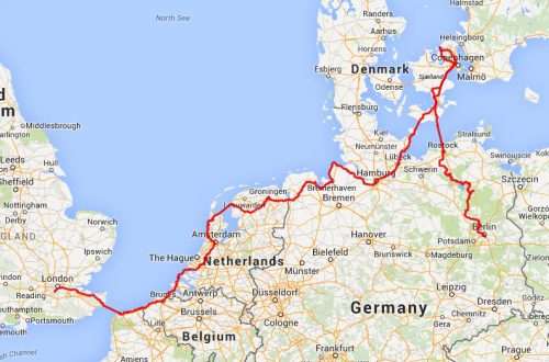 Route London to Berlin (07/3/14)