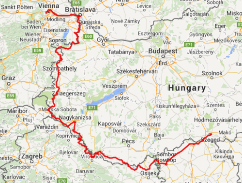 Vienna to Szeged
