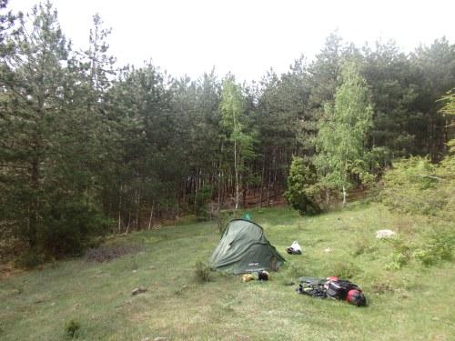 Last campsite in Bulgaria