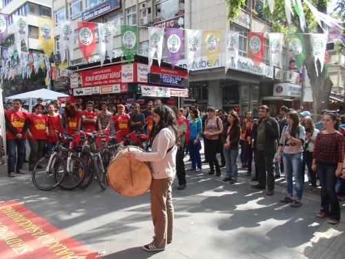 Grup Yorum's arrival in Ankara