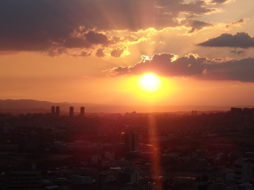 Sunset over Ankara