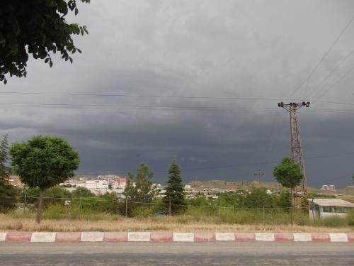 Looming thunderstorm in Kirkkale