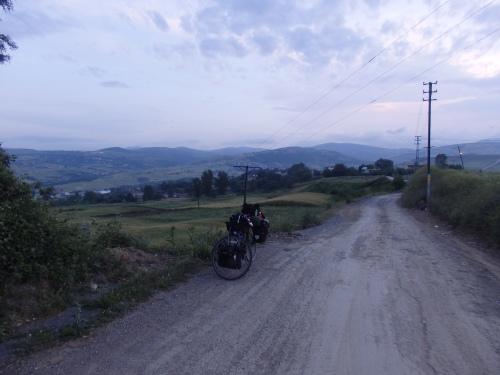 Cycling into Samsun at dusk
