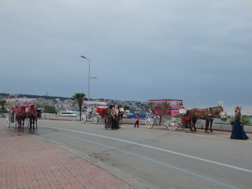 Horse-drawn carts
