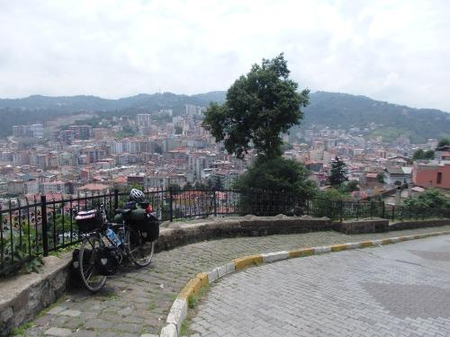 Climbing up to Giresun Castle