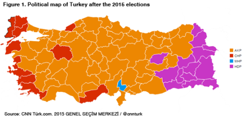 Turkey election results map