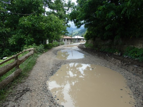Poor road conditions towards Khulo
