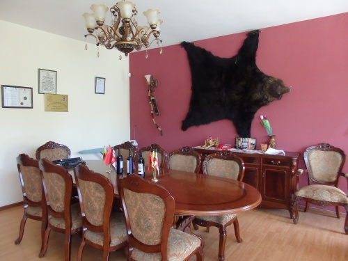 My host's dinning room