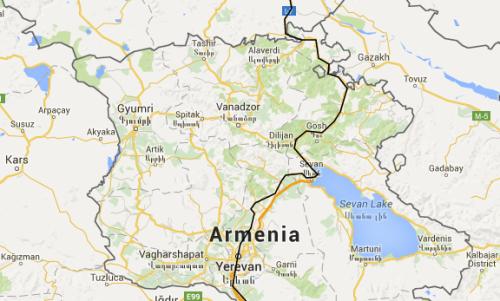 Route to Yerevan