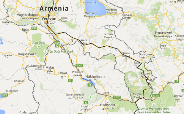 Yerevan to Iran