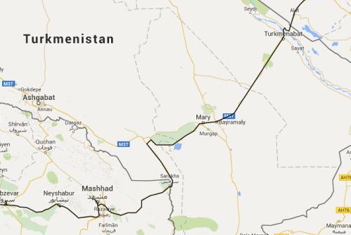 Turkmenistan route