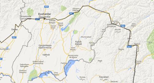 Uzbekistan border to Khorog