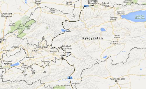 Kyrgyzstan route