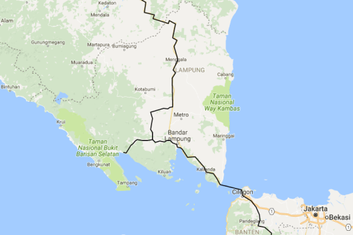 south sumatra route