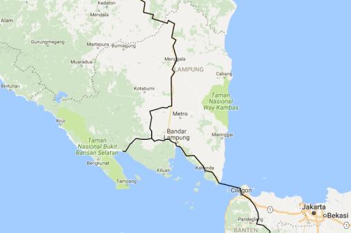 south sumatra route